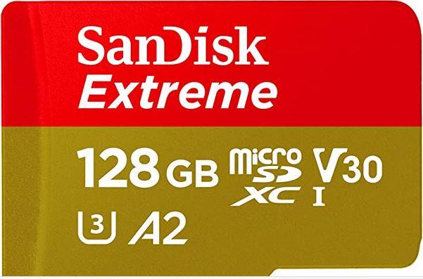 128 GB SanDisk Extreme Micro SDXC U3 A2 V30 @ Amanzon.nl