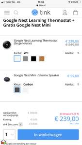 Google nest thermostaat v3 + Google nest mini