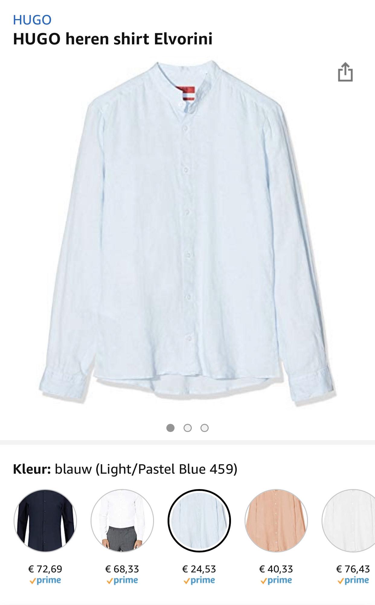 HUGO heren shirt Elvorini vanaf €24,53