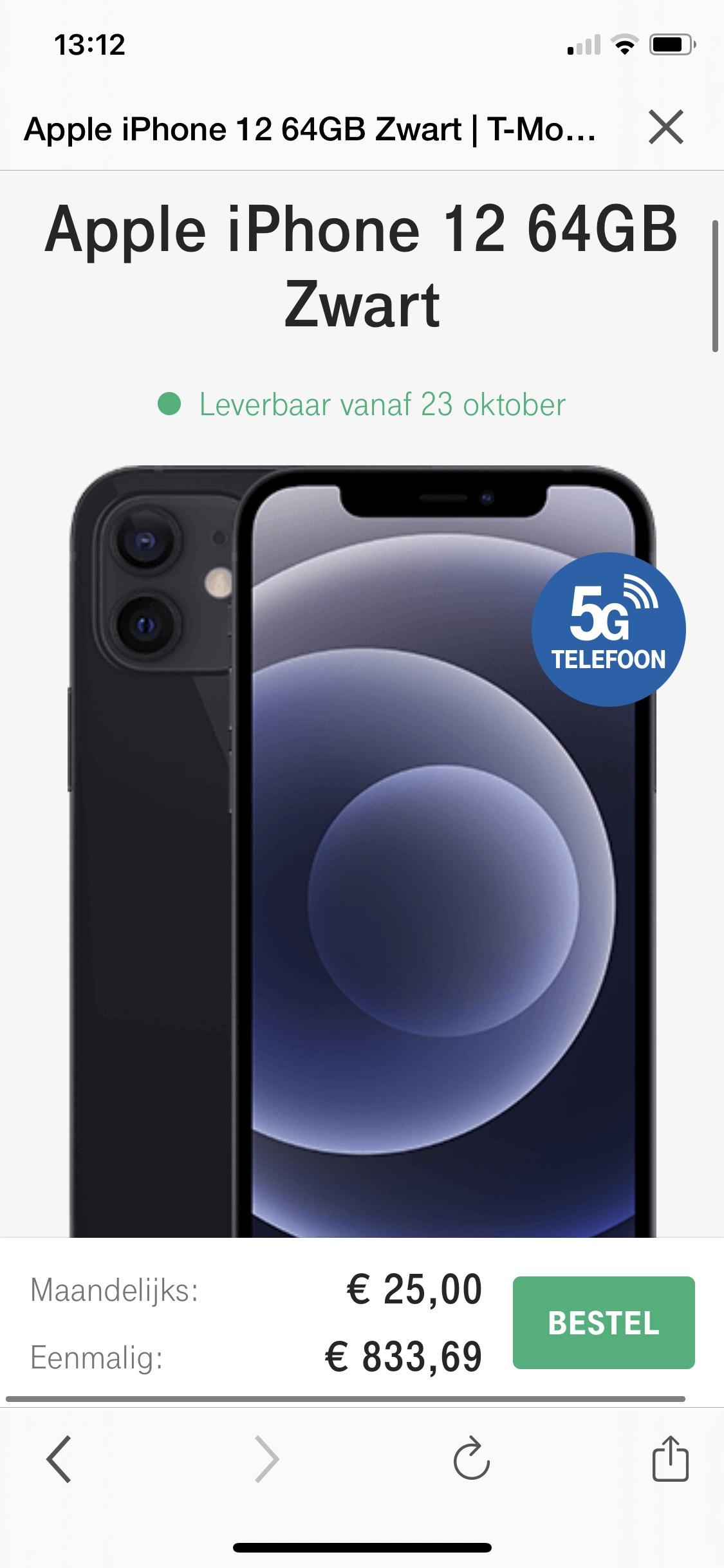 Iphone 12 met Sim only