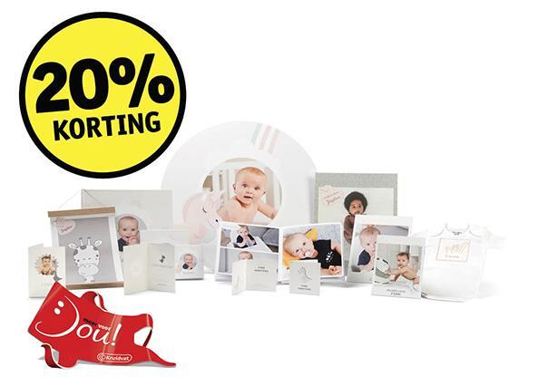 20% korting op gepersonaliseerde babycadeau's