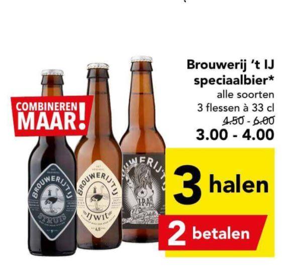 Brouwerij 't IJ 33% korting bij Deen Supermarkten // Grimbergen 50% korting