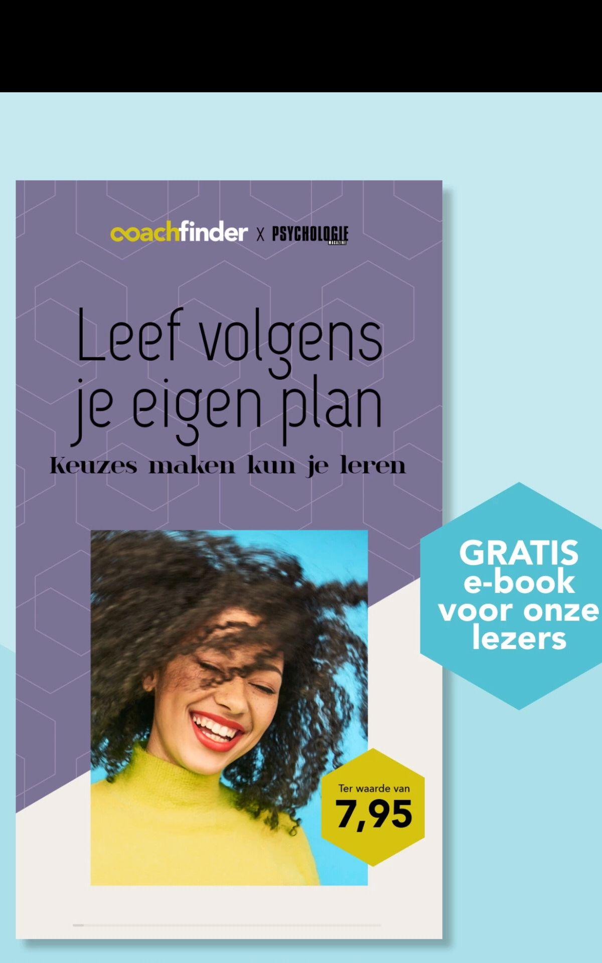 Gratis zelfhulp Lifecoaching e-book: Leef volgens je eigen plan