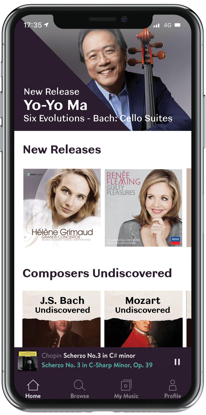 -/- 90%, 4 maanden, klassieke muziek streaming dienst, lossless, € 1,49 p/m