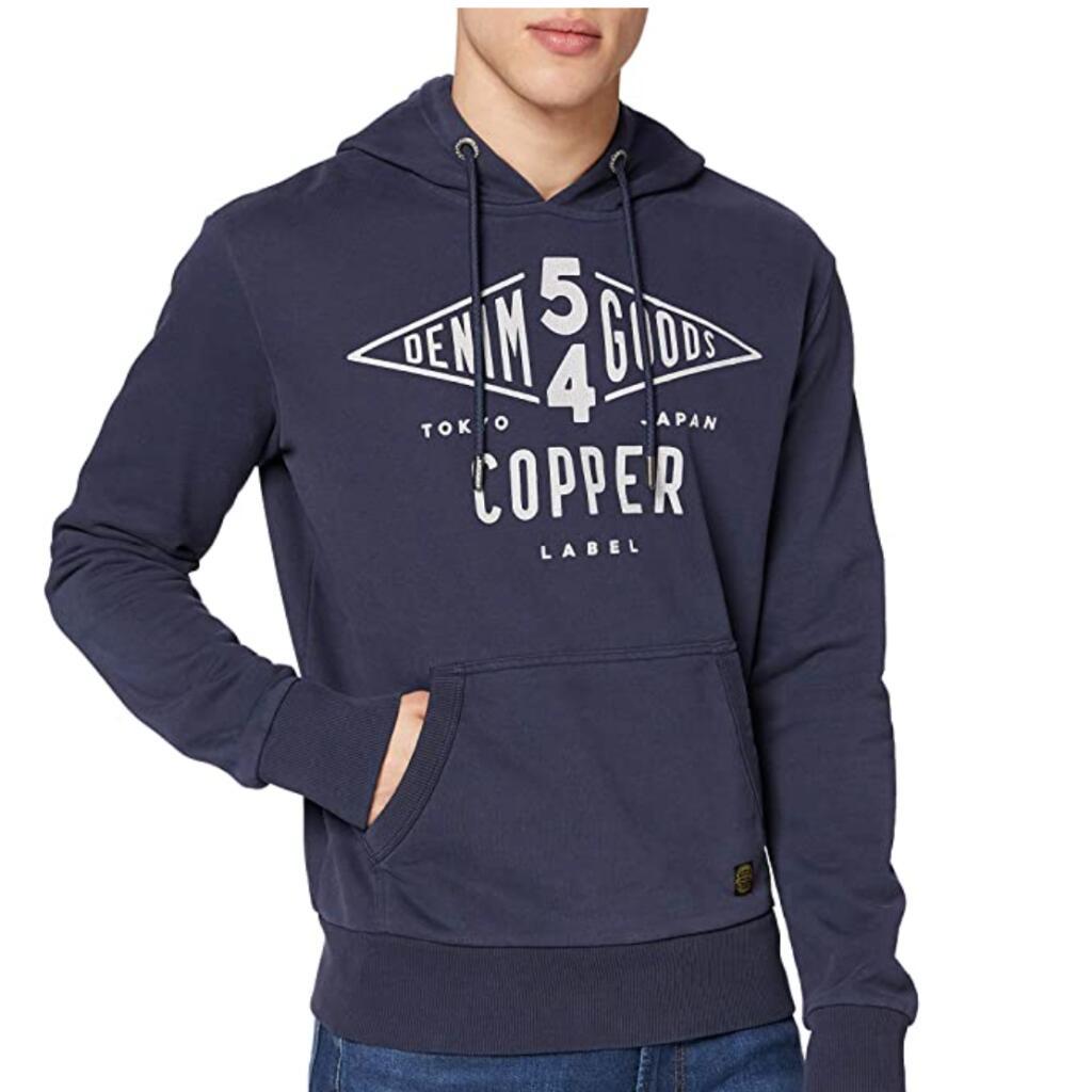 Superdry Copper Label heren hoodie blauw voor €18,07 @ Amazon.nl
