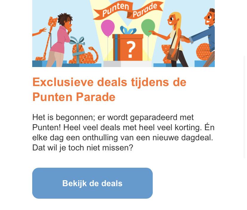 ING klanten: Exclusieve deals tijdens de Punten Parade