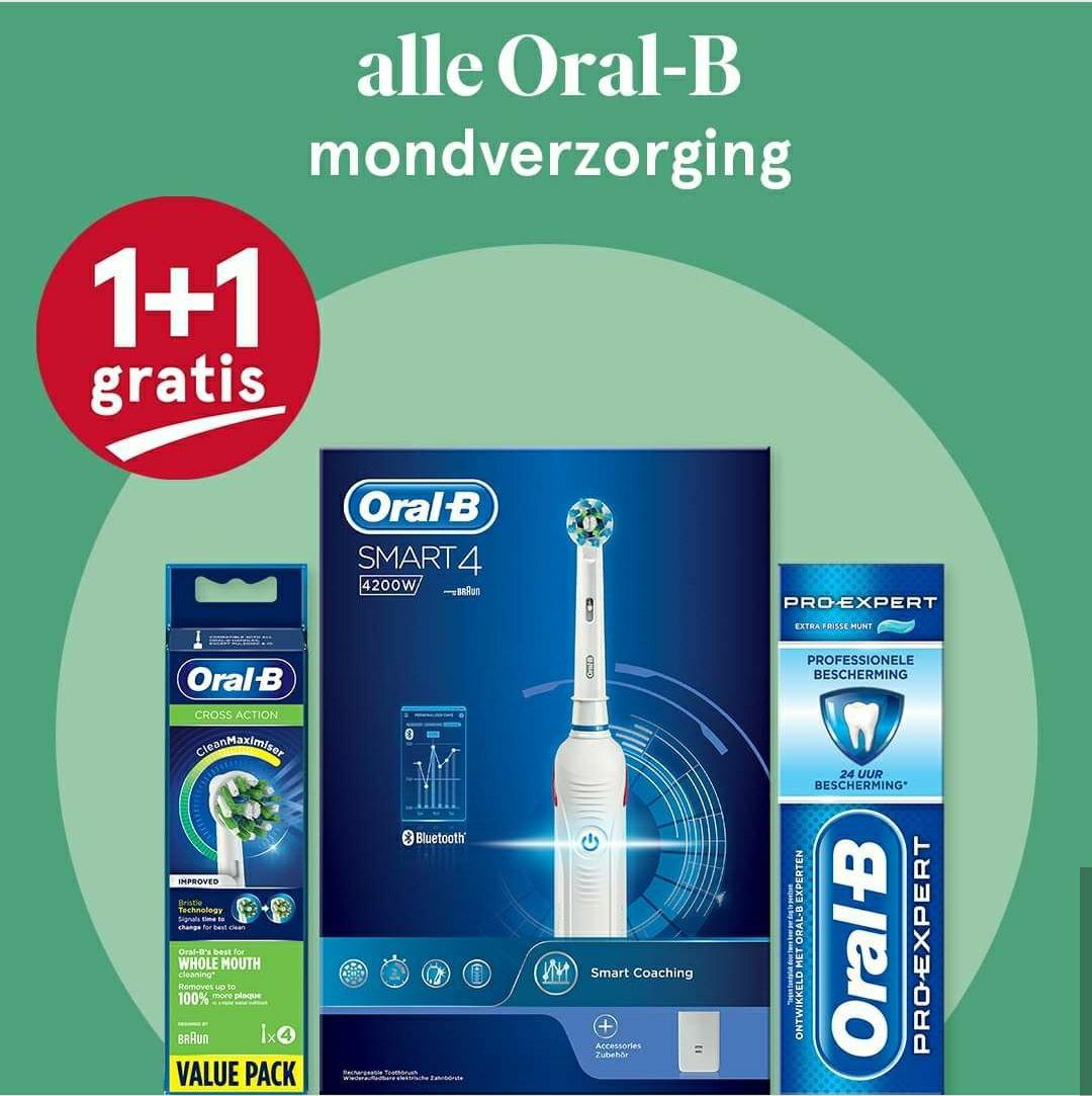 Oral-B mondverzorgingen 1+1 Gratis