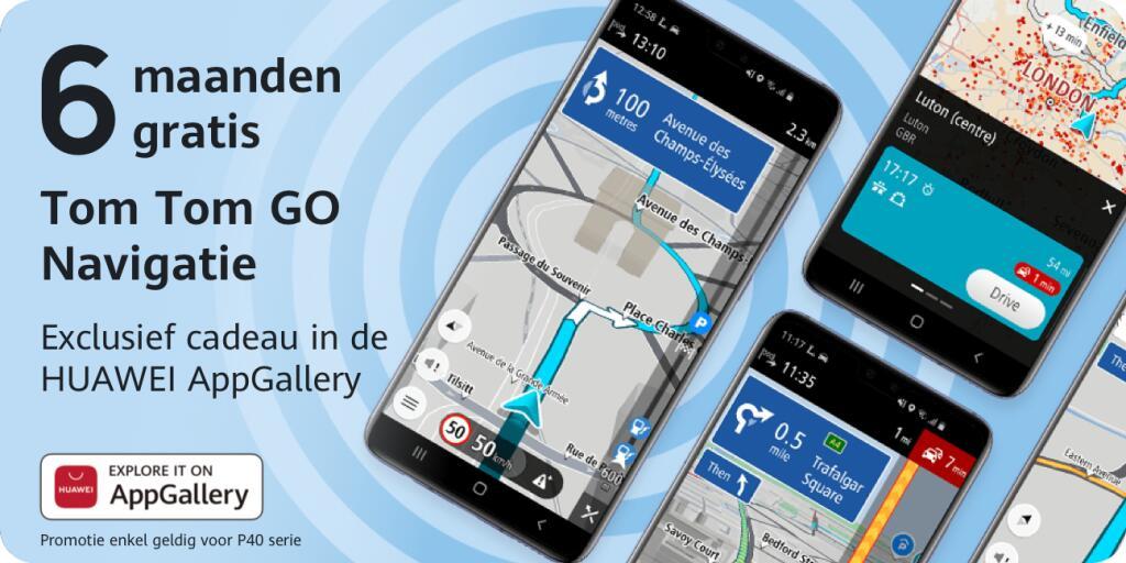 TomTom GO Navigation nu 6 maanden gratis voor HUAWEI-gebruikers @ AppGallery