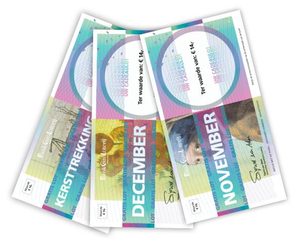 3 gratis loten BankGiroLoterij