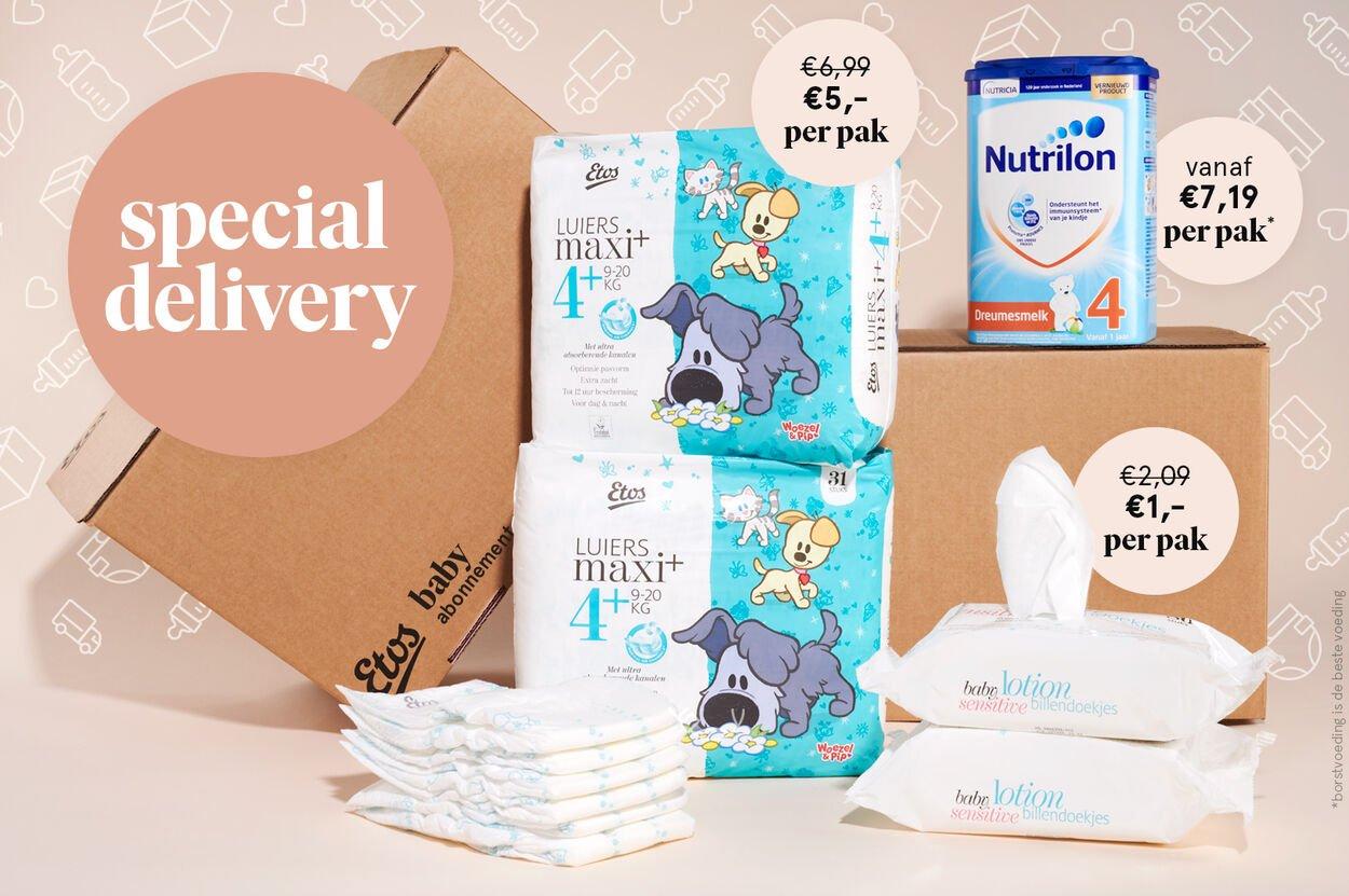 Nieuw: het Etos Baby abonnement + gratis cadeau in je eerste box en bij de eerste 3 maanden