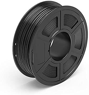 TECBEARS PETG 3D Filament 1.75mm zwart, diameter nauwkeurigheid +/- 0.02 mm, 1 Kg Spoel @amazon.de