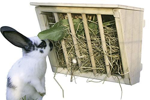 4 houten hooiruifjes (voor konijnen) voor €4,06 per stuk