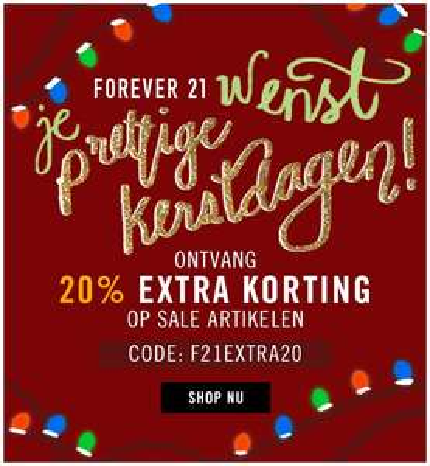 20% EXTRA korting op alle sale artikelen @ Forever21