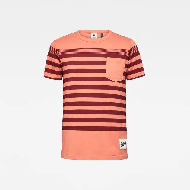 G-Star Raw heren t-shirt Vacation Stripe Pocket Straight