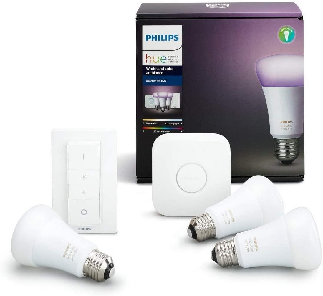 Philips Hue White & Color Ambiance E27 Starterset
