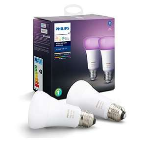 Philips Hue Lampen E27 - Duopack - White and Color Ambiance- E27 - Bluetooth