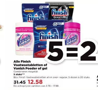 Vanaf 25-10 alle Finish vaatwastabletten of Vanish Poeder of gel bij PLUS