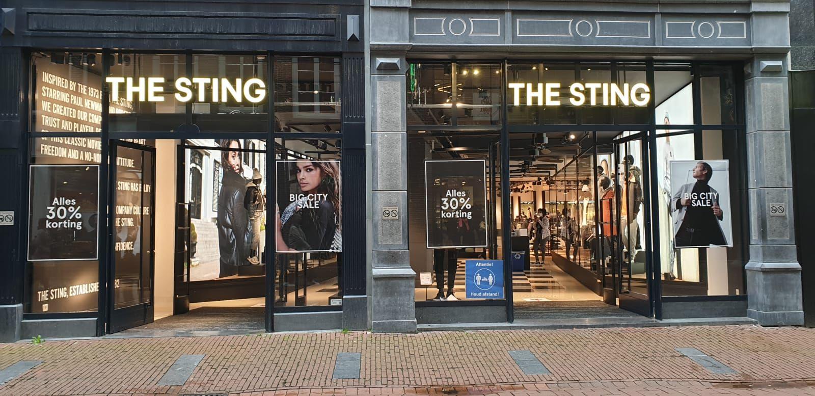 Big city sale! 30% korting op hele collectie inclusief sale bij The Sting Amsterdam Kalverpassage