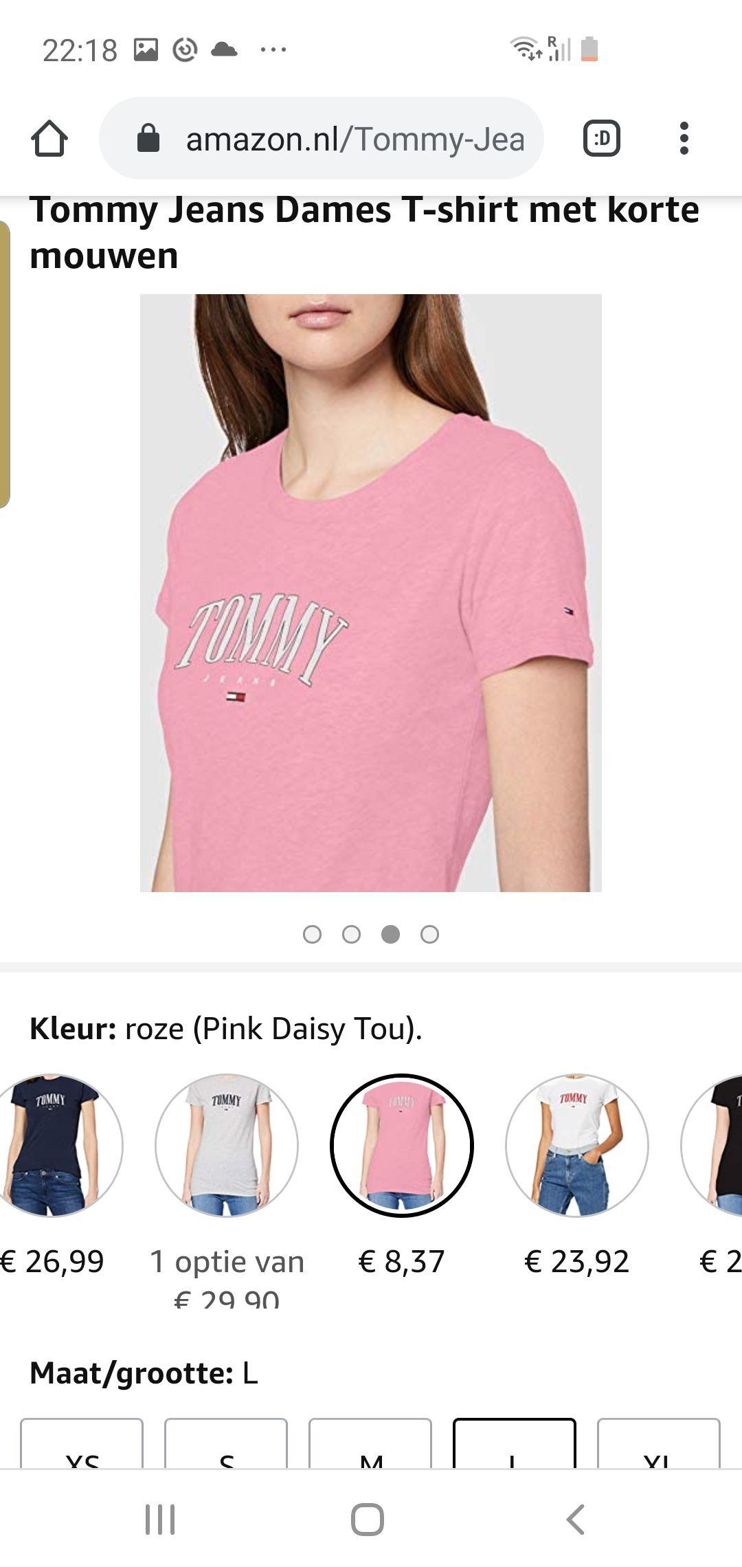 Tommy Jeans Dames T-shirt met korte mouwen