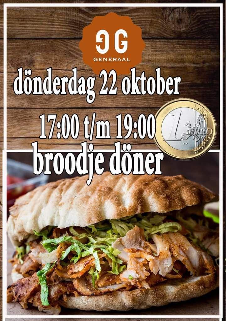 (Lokaal Eindhoven) broodje doner 1€