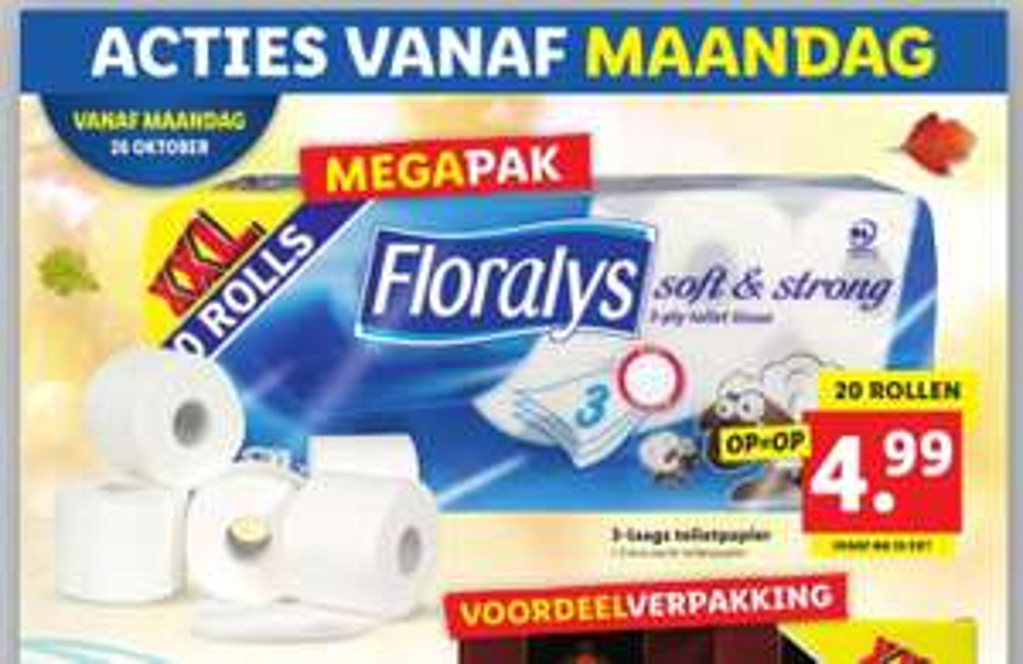 Floralys toiletpapier 20 rollen XXL