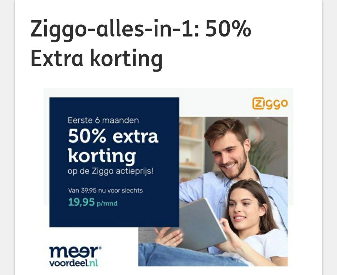 Dagdeal: Via ING punten: eerste 6 maanden Ziggo all-in-one pakket voor 19.95 - voor Start, Complete & Max