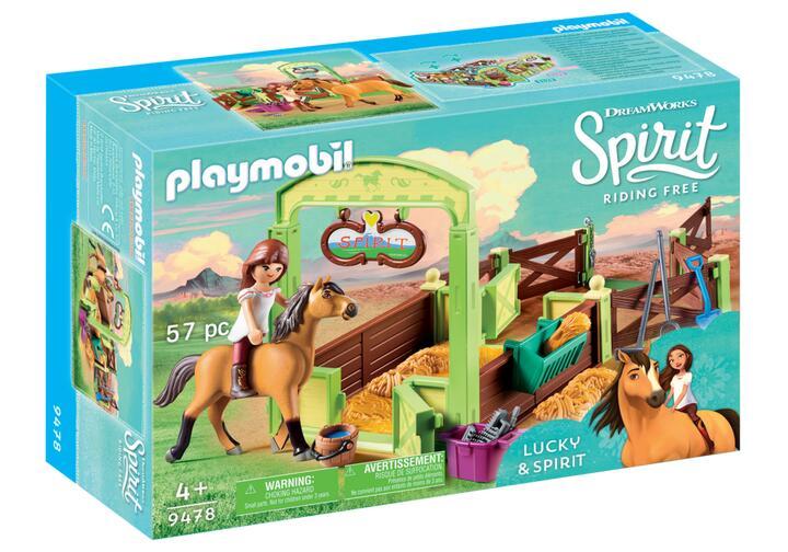 Playmobil 9478 Lucky & Spirit met paardenbox voor €7,48 @ Amazon NL