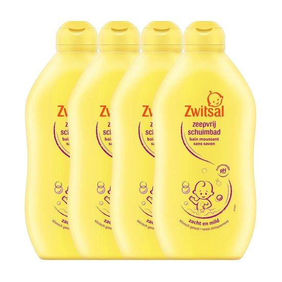 Zwitsal Baby Zeepvrij Badschuim - 4 x 400 ml - Voordeelverpakking