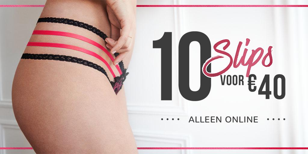 10 slips voor €40 (Korting tot 50%) - keuze uit 250+ soorten @ Hunkemöller