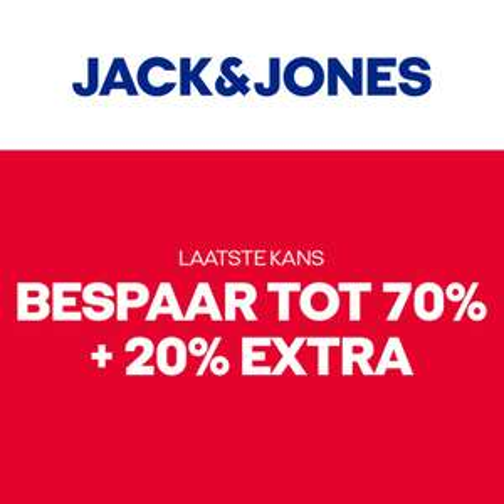 SALE tot -70% + 20% EXTRA @ Jack & Jones