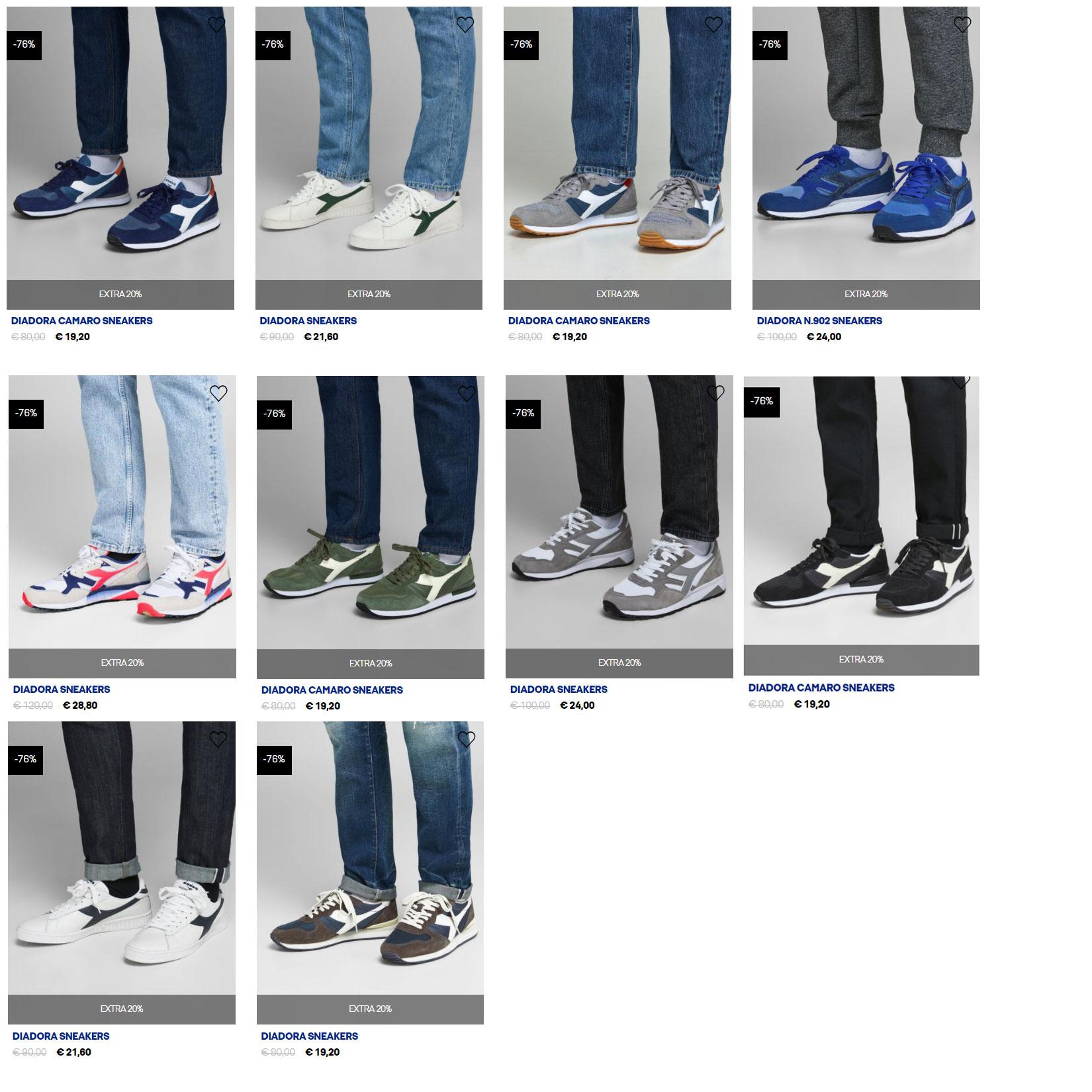 Diadora sneakers -70% + 20% EXTRA @ Jack & Jones