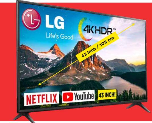 LG 4K Ultra HD TV 43UN7100 @Vomar