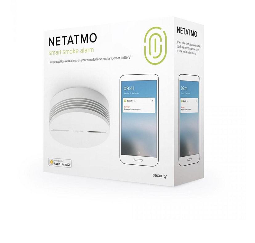 Netatmo Slimme Rookmelder - 10 jaar batterij - HomeKit