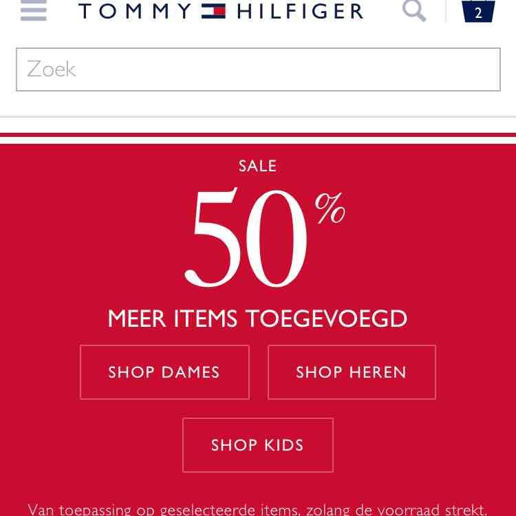 Tommy Hilfiger 50% korting!
