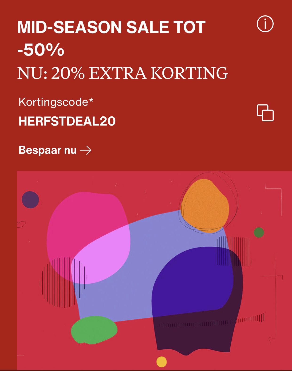 Nu bij Zalando 20% extra op de Sale