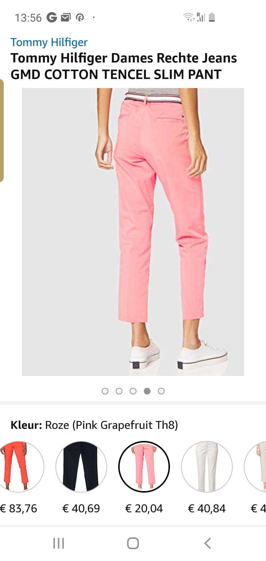 Tommy Hilfiger Dames Rechte Jeans GMD COTTON TENCEL SLIM PANT