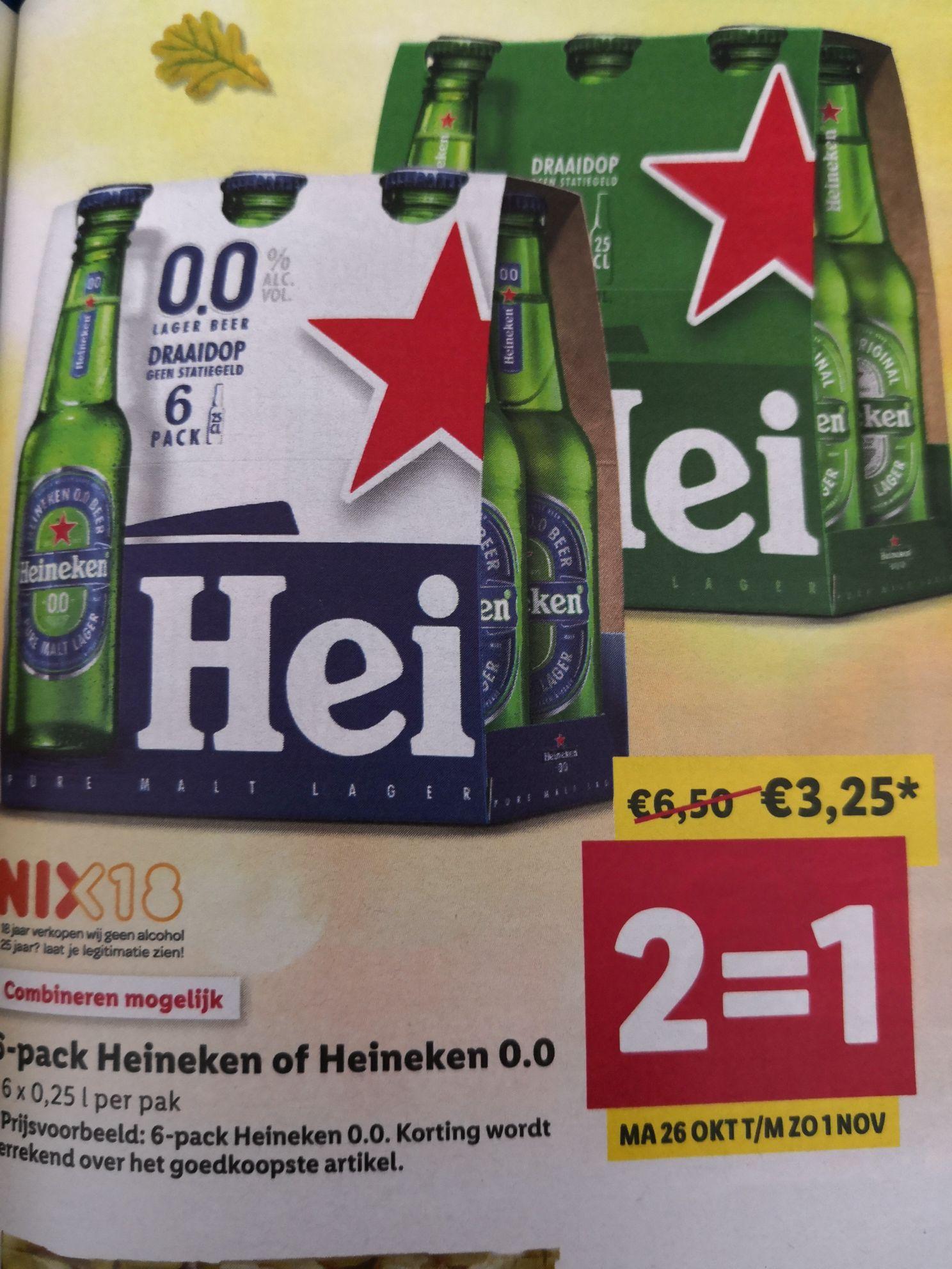 Heineken 12 stuks 25 cl voor €3,25 @Lidl