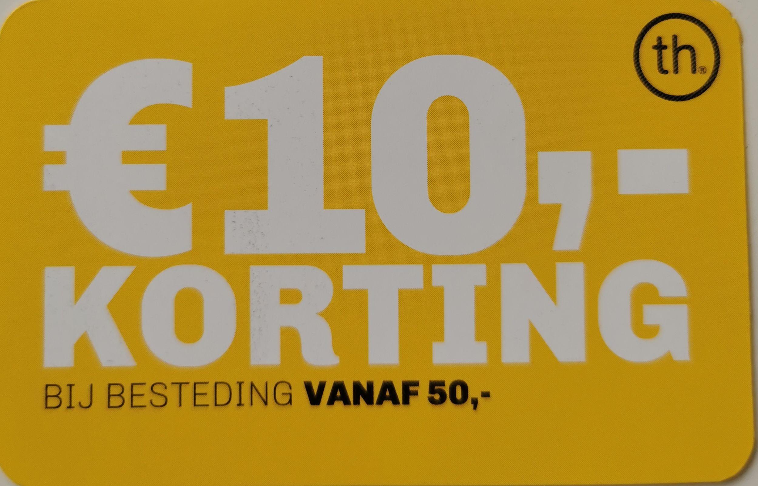 € 10 korting bij besteding vanaf € 50 bij Trendhopper