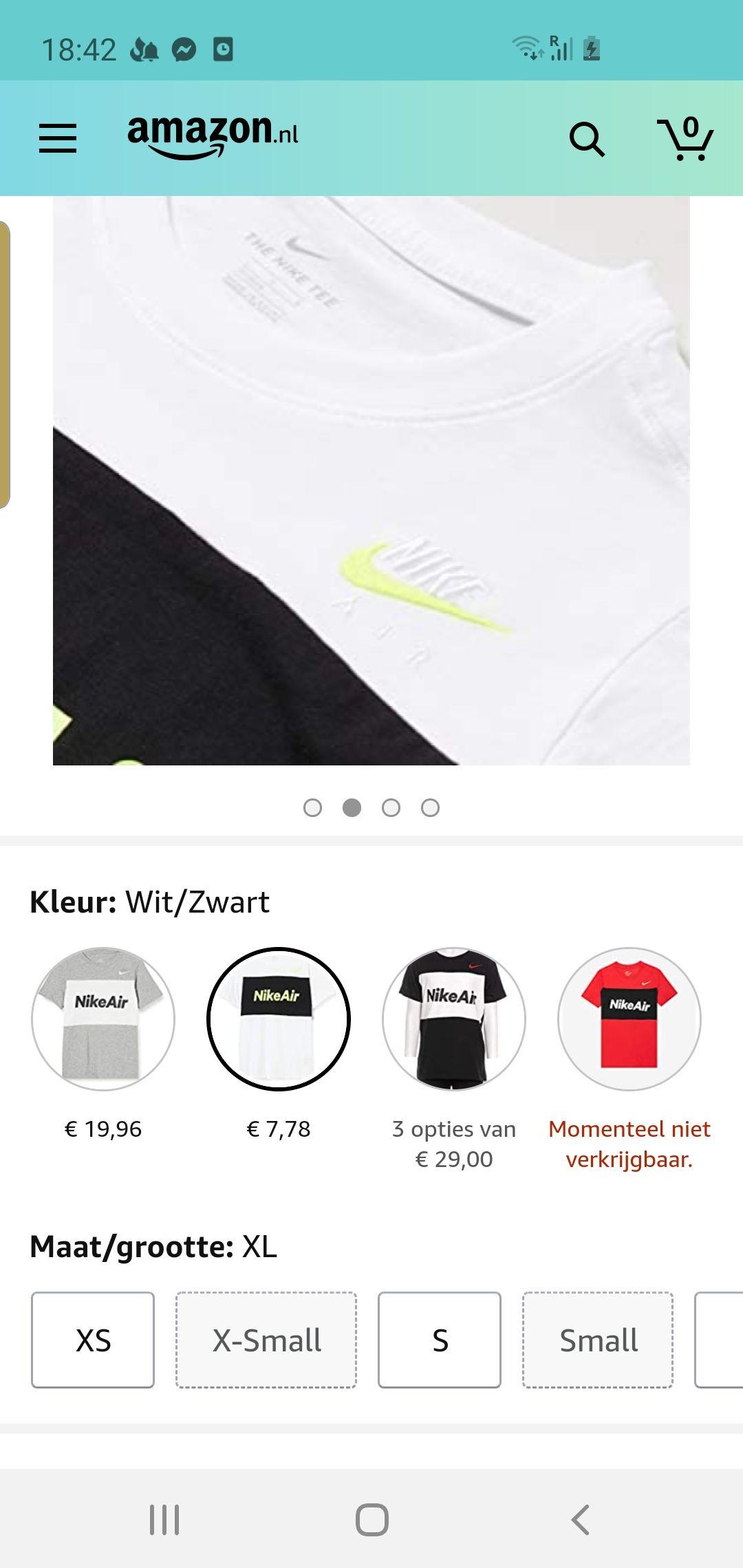 Nike air t shirt kids maten