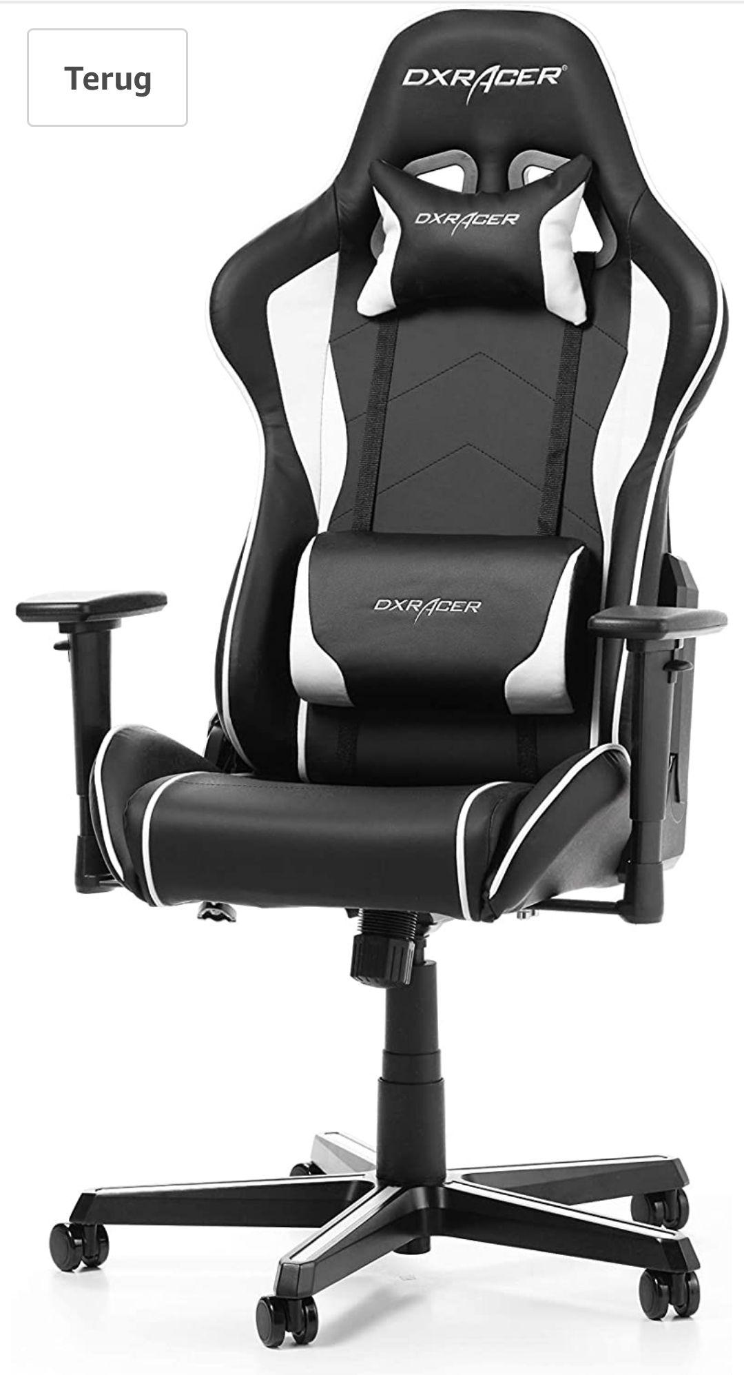 DXRacer Formula F08 gamingstoel zwart/wit