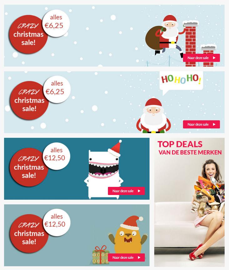 Crazy X-MAS sale - alles voor €6,25 // €12,50 // €25 // €50 p.s. @ ShopVip