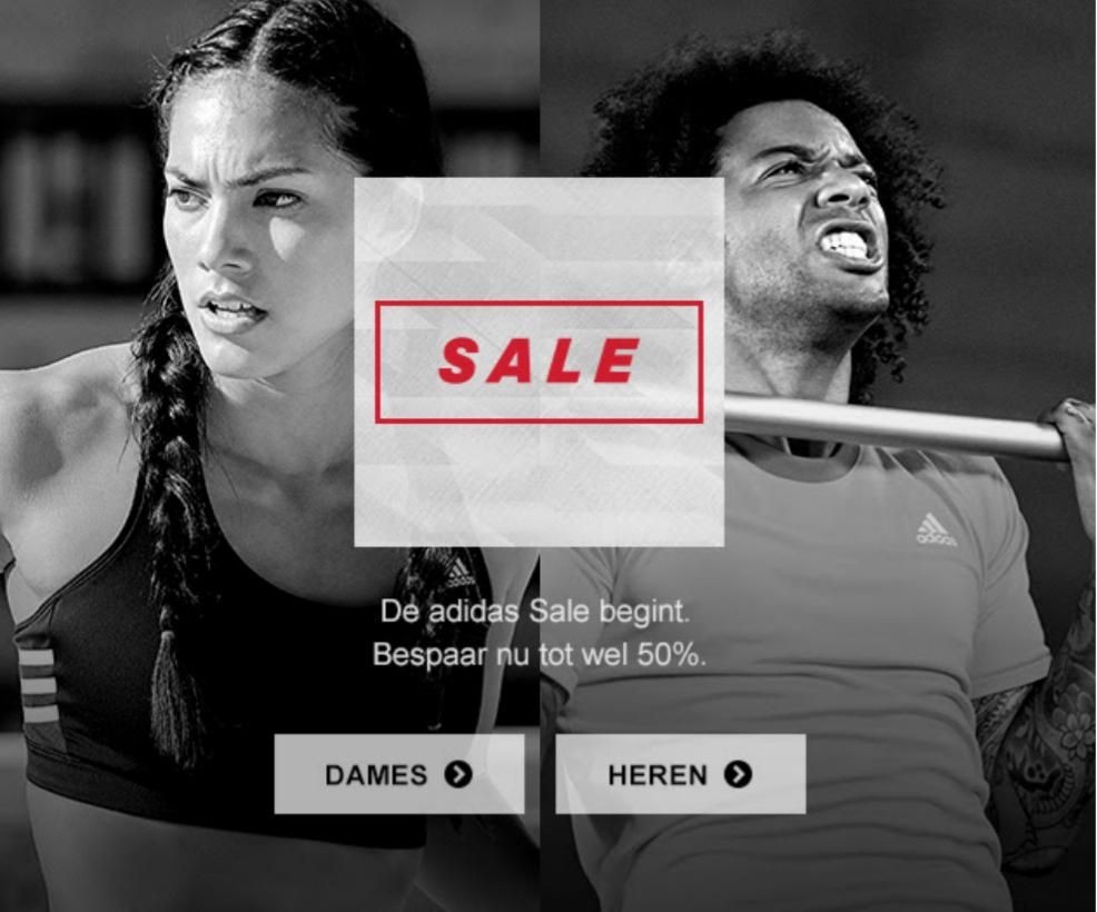 Sale met korting tot 50% @ Adidas en Reebok