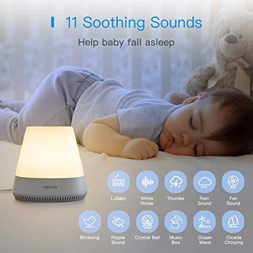 Dimbare nacht tafellamp LED met geluidseffecten, compatibel met Alexa en Google voor €26,99 @ Amazon.de