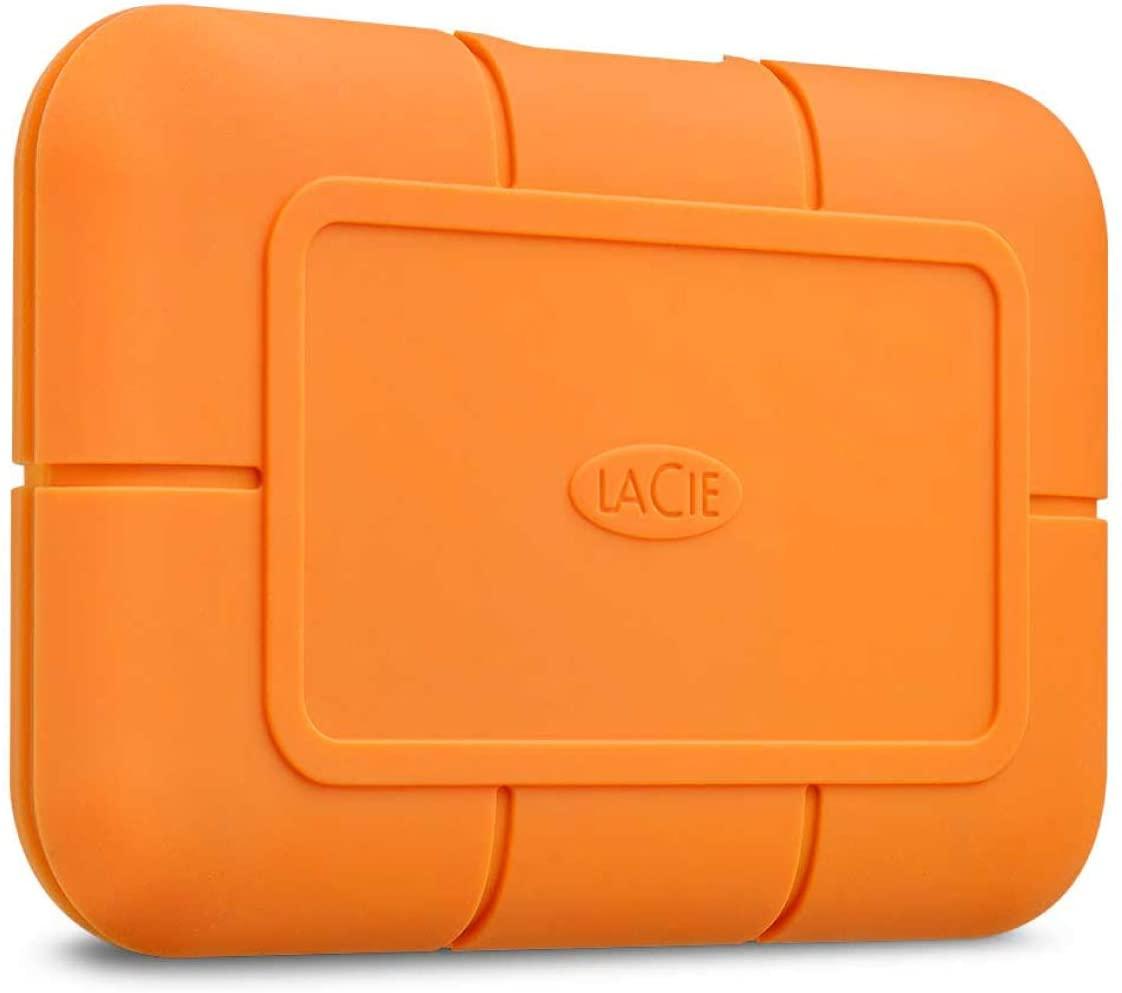Lacie Rugged Ssd Usb-C 1Tb Externe Solid State Drive Voor Mac Oranje