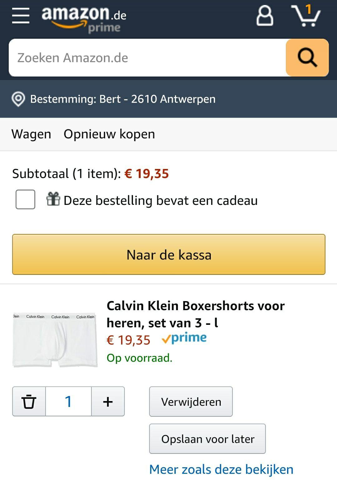 Calvin Klein boxershort 3 pack (wit)