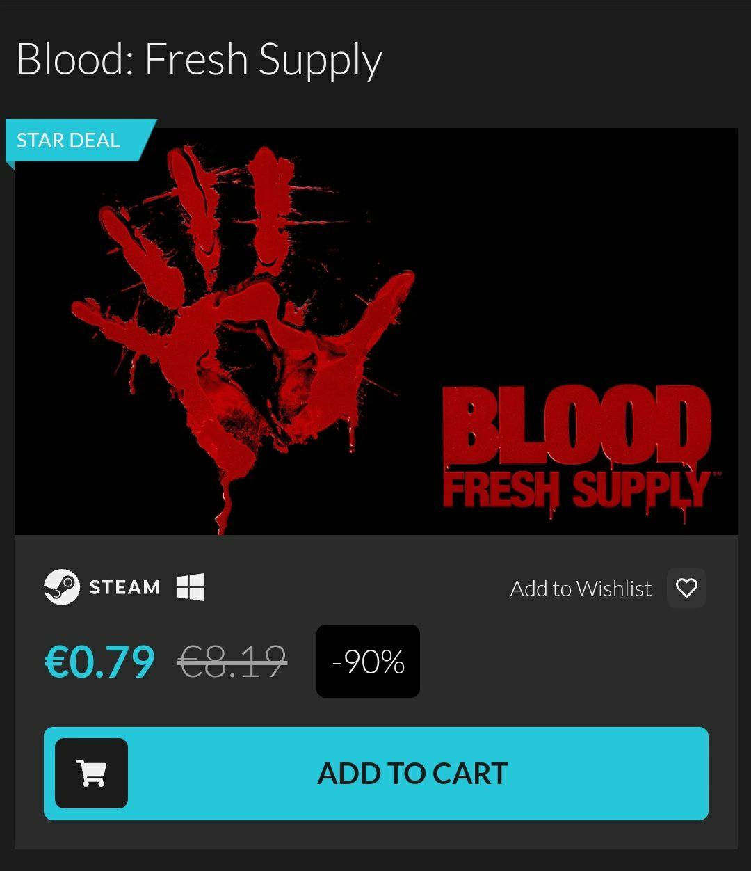 [Fanatical] Blood: Fresh Supply