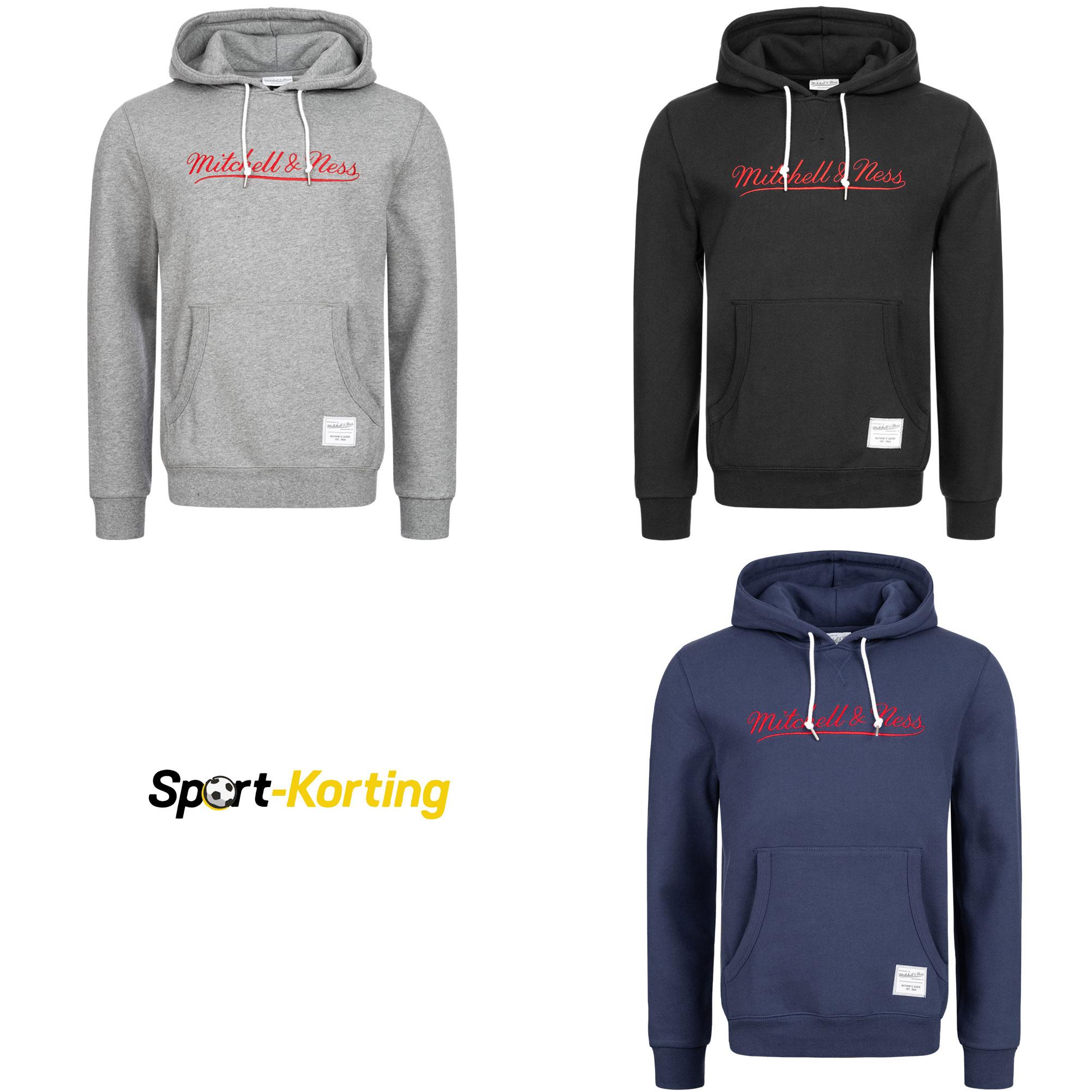 Mitchell & Ness Logo Essentials Heren Hoodie @ Sport-Korting