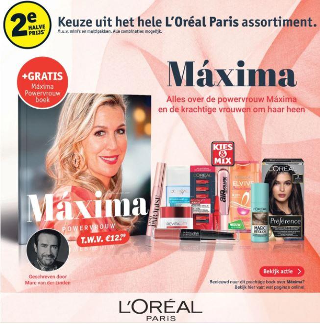 Boek Máxima Powervrouw van €13 voor €5 (Gratis verzending)
