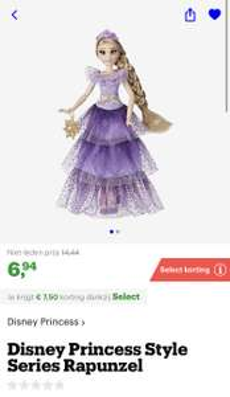 [select deal bol.com] Disney Princess Style Series Rapunzel