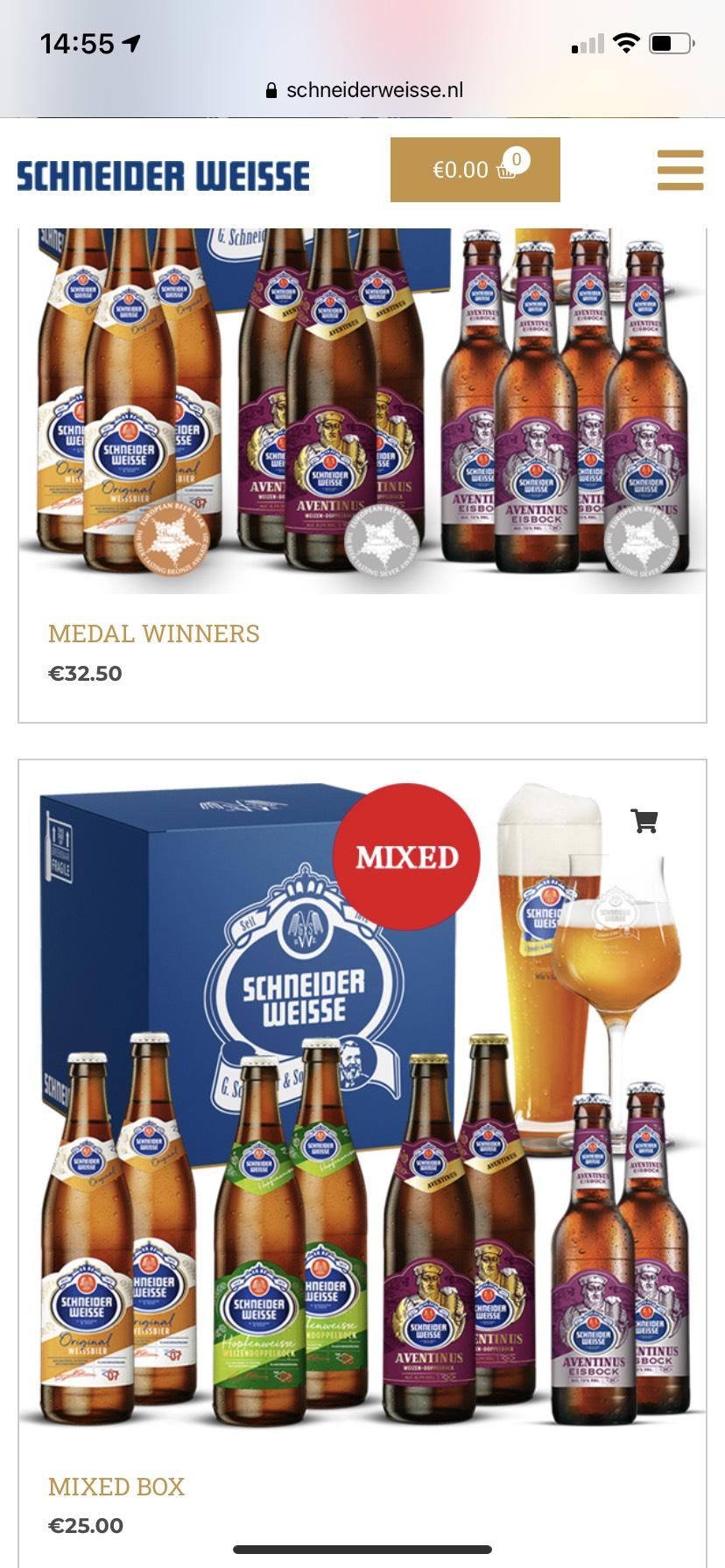 5 euro korting op bier van Schneider Weisse